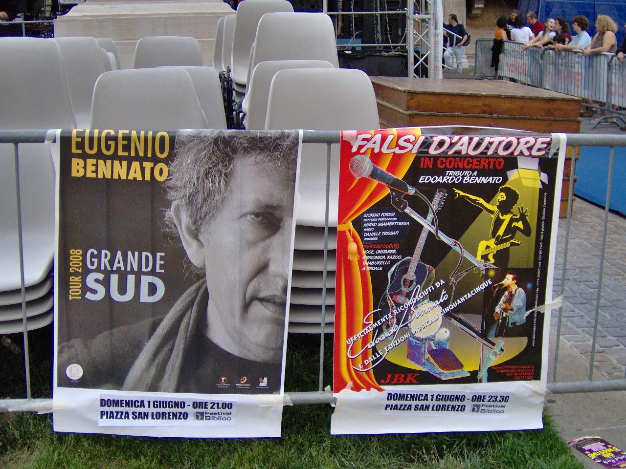 1 giugno 2008: Sotto il palco del Festival Biblico  (VI)