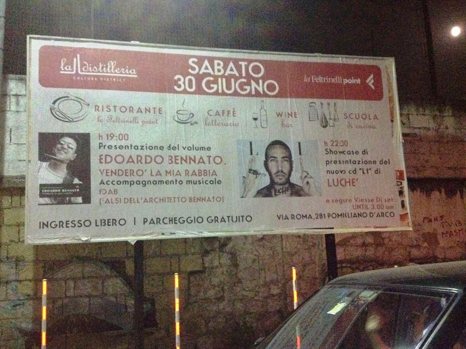 30 giugno 2006: Cartelloni stradali a Pomigliano d'Arco (NA)