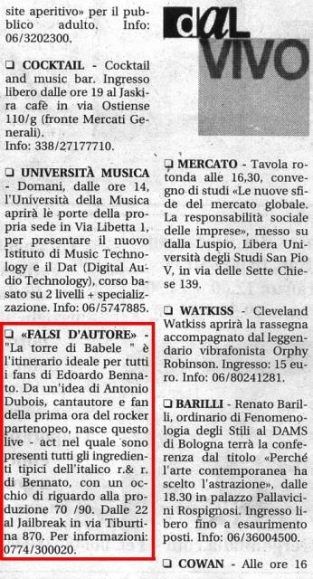 IL TEMPO SIMONA CAPORILLI 13 APRILE 2005