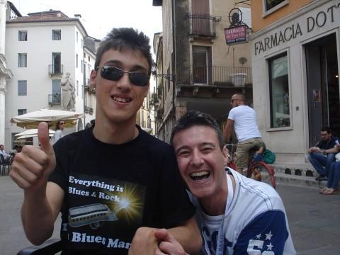 VICENZA - 8/6/2013 - con Luca