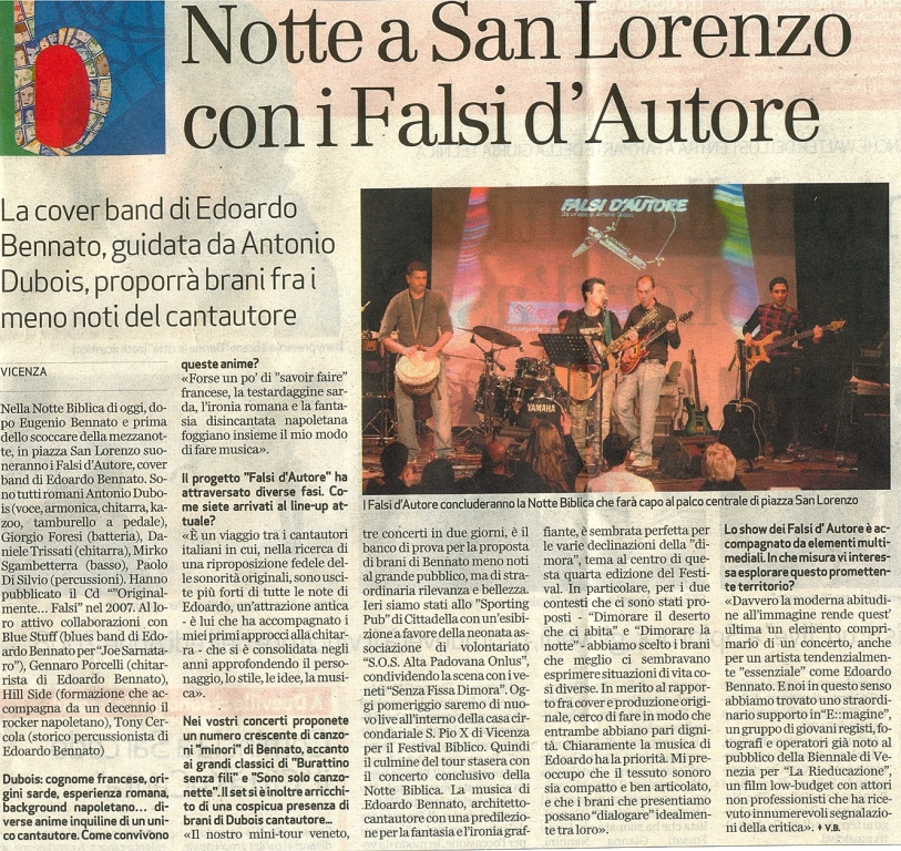 IL GIORNALE DI VICENZA - 1 GIUGNO 2008