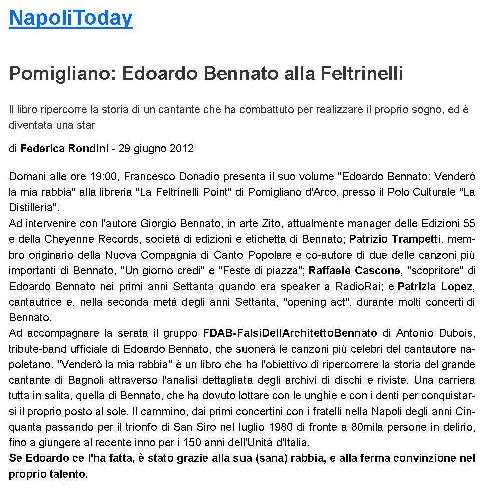 NAPOLI TODAY - 29 GIUGNO 2012